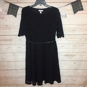 Charter Club Lace Belted Cocktail Dress Size M